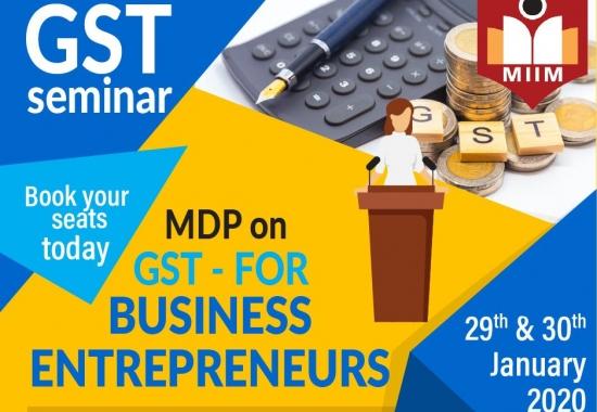 MDP on GST for business entrepreneurs