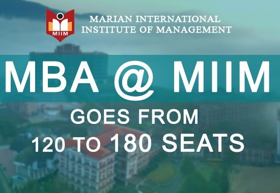 MBA @ MIIM goes from 120 to 180 seats