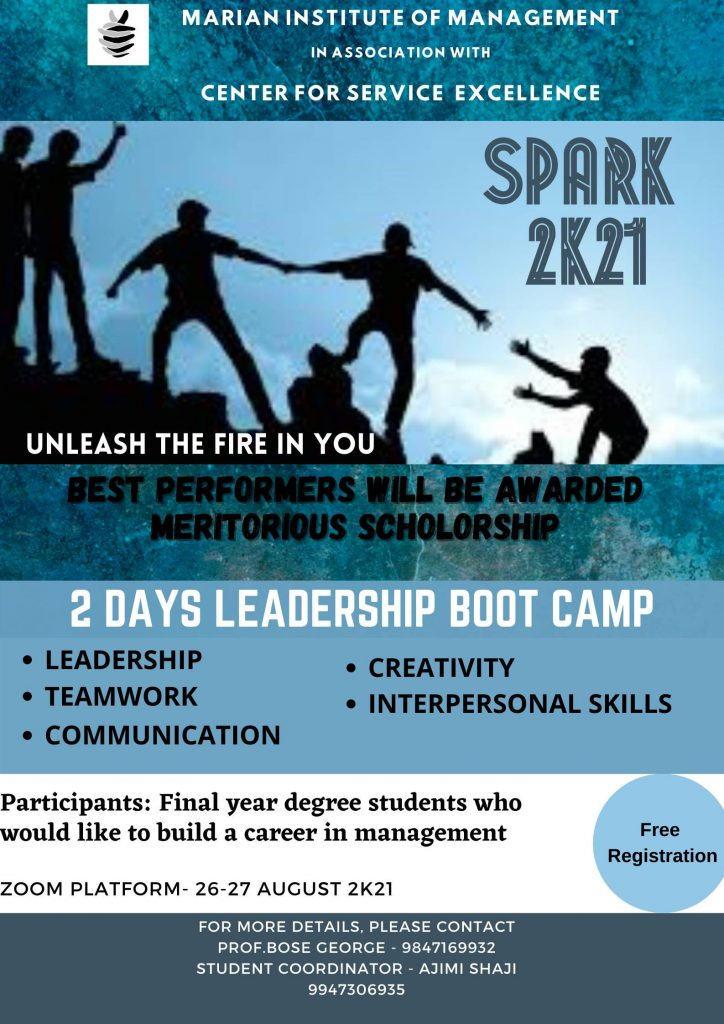 SPARK 2K21 Two days Online Leadership Boot Camp